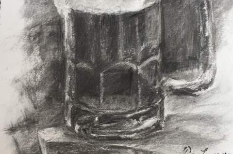 Paul de Luna, Stein in charcoal won first place in the third annual BierFest, Bier+Art competition.
