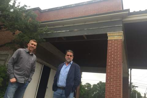 Travis Roberson and business partner Robert Thornton are seeking to restore what was once a gateway corner into Boerne, a once-upon-a-time gas station, now something of a landmark, at the corner of Oak Park Dr. and Schweppe.