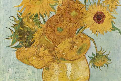 Van Gogh, Vase with Flowers, 1889.  Museum of Fine Arts Houston through June 27.